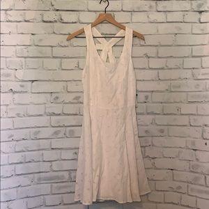 NWT Sandra Darren White Bow Tie Dress